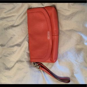 Never used coral coach wallet/purse